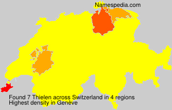 Surname Thielen in Switzerland