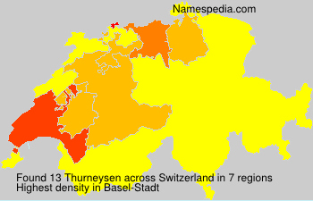 Surname Thurneysen in Switzerland