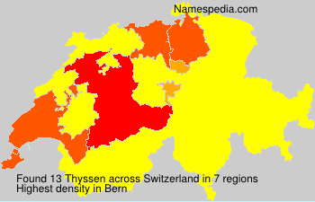 Surname Thyssen in Switzerland
