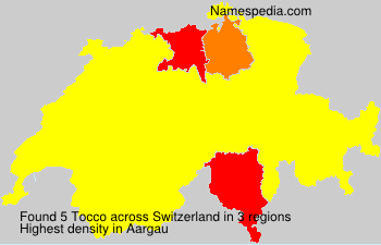 Surname Tocco in Switzerland