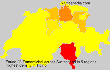 Surname Tomamichel in Switzerland