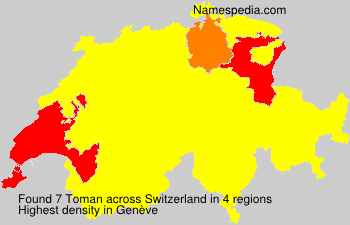 Surname Toman in Switzerland