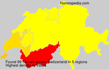 Surname Torrent in Switzerland