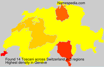 Surname Toscani in Switzerland