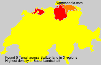 Surname Tunali in Switzerland