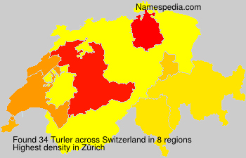 Surname Turler in Switzerland