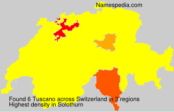 Surname Tuscano in Switzerland
