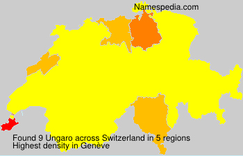 Surname Ungaro in Switzerland