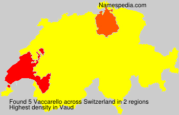 Surname Vaccarello in Switzerland