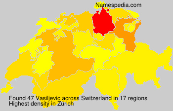 Surname Vasiljevic in Switzerland