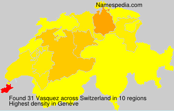 Surname Vasquez in Switzerland