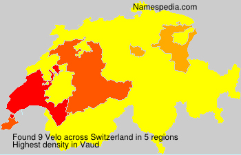 Surname Velo in Switzerland