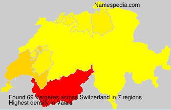 Surname Vergeres in Switzerland