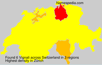Surname Vignali in Switzerland