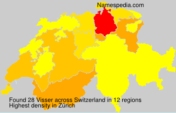 Surname Visser in Switzerland