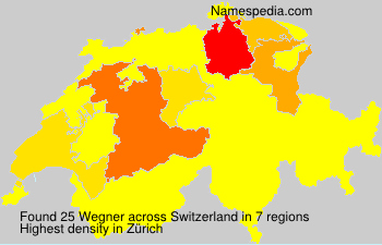 Surname Wegner in Switzerland