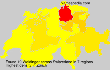 Surname Weidinger in Switzerland
