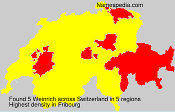 Surname Weinrich in Switzerland
