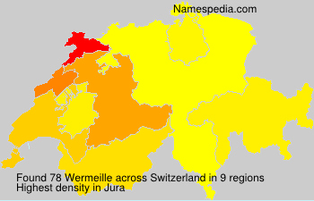 Surname Wermeille in Switzerland