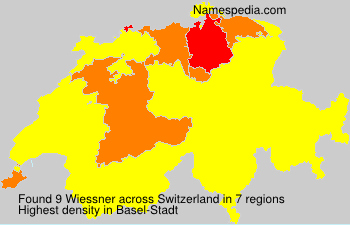 Surname Wiessner in Switzerland
