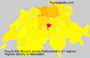 Surname Wursch in Switzerland