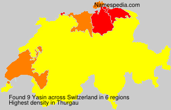 Surname Yasin in Switzerland