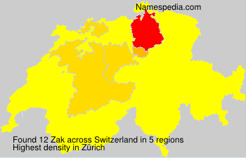 Surname Zak in Switzerland