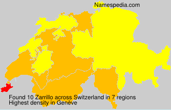 Surname Zarrillo in Switzerland
