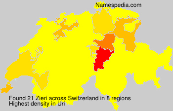 Surname Zieri in Switzerland