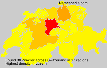 Surname Ziswiler in Switzerland