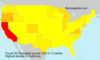 Surname Aardappel in USA