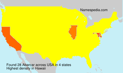 Surname Abarcar in USA