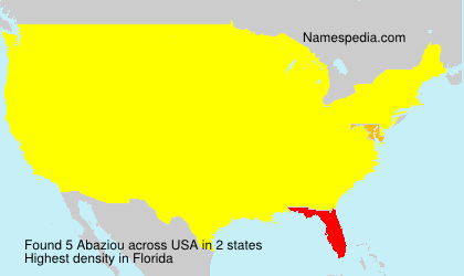 Surname Abaziou in USA