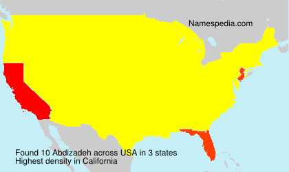Surname Abdizadeh in USA