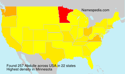 Surname Abdulle in USA