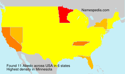 Surname Abedo in USA