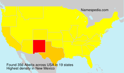 Surname Abeita in USA