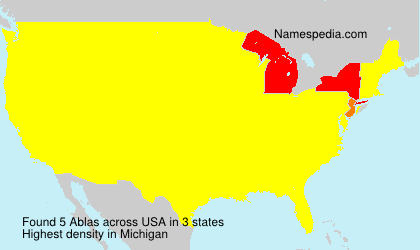 Surname Ablas in USA