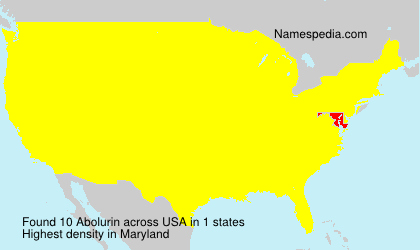 Surname Abolurin in USA