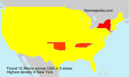 Surname Abone in USA