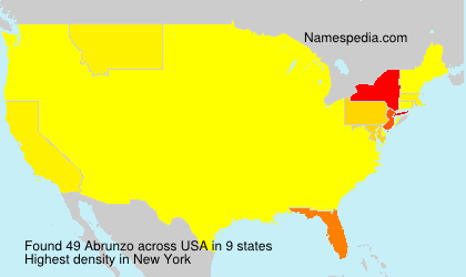 Surname Abrunzo in USA