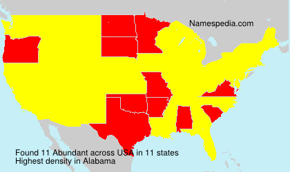 Surname Abundant in USA