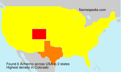 Surname Achierno in USA