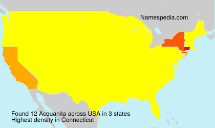Surname Acquanita in USA