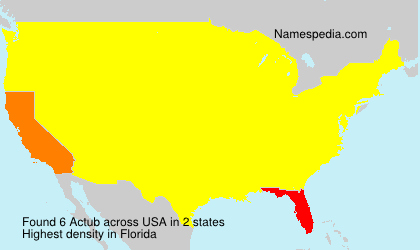 Surname Actub in USA