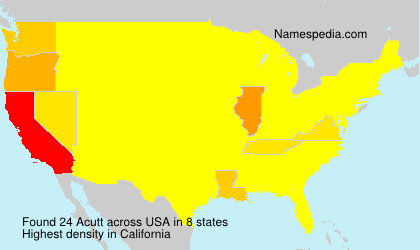 Surname Acutt in USA
