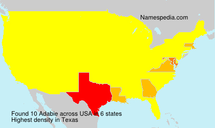 Surname Adabie in USA