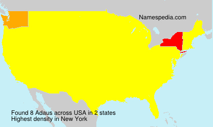 Surname Adaus in USA