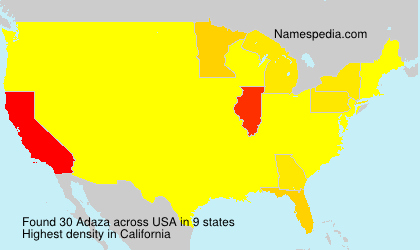 Surname Adaza in USA