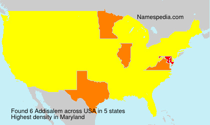 Surname Addisalem in USA